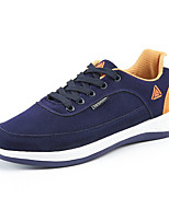 Недорогие -Муж. Замша Весна Удобная обувь Кеды Черный / Серый / Синий