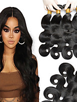 cheap -Peruvian Hair Wavy Natural Color Hair Weaves / Extension 4 Bundles 8-28 inch Human Hair Weaves Machine Made Best Quality / Hot Sale / 100% Virgin Natural Black Human Hair Extensions Women's / All