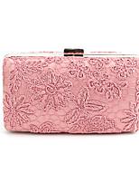 cheap -Women's Bags Nylon Evening Bag Lace Blushing Pink