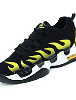 cheap -Men's Light Soles Suede Fall Sneakers Black / White / Black / Red / Black / Yellow