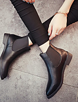 cheap -Women's Shoes PU(Polyurethane) Winter / Fall & Winter Comfort Boots Low Heel Black / Gray
