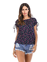 cheap -Women's Basic Shirt - Geometric Print