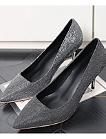 cheap -Women's Shoes Synthetics Spring / Fall Comfort / Basic Pump Heels Stiletto Heel Dark Grey