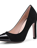 cheap -Women's Shoes Suede Spring Comfort Heels Stiletto Heel Open Toe Buckle Black / Wine / Khaki