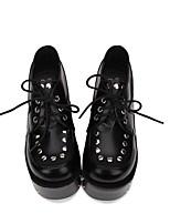 abordables -Chaussures Gothique / Punk Punk / Gothique Creepers Chaussures Points Polka 10 cm CM Noir Pour PU