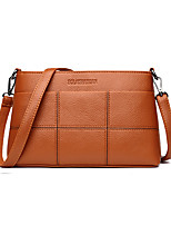 cheap -Women's Bags PU(Polyurethane) Shoulder Bag Zipper Red / Purple / Brown