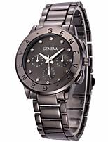 cheap -Women's Wrist Watch Chinese Chronograph / Imitation Diamond / Large Dial Stainless Steel Band Luxury / Bangle Black / Silver / Gold