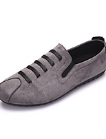 cheap -Men's Shoes Suede Summer Comfort Loafers & Slip-Ons Black / Gray