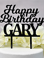 cheap -Cake Topper Classic Theme / Wedding New / Hollow Acryic / Polyester Birthday with Acrylic 1 pcs OPP