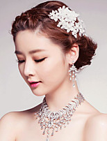 cheap -Women's Crystal Mismatched Jewelry Set - Drop Stylish, Romantic, Elegant Include Necklace Silver For Wedding / Party