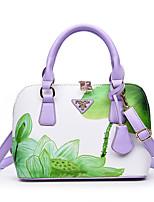 cheap -Women's Bags PU(Polyurethane) Tote Zipper Black / Red / Purple