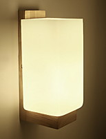 cheap -Modern / Contemporary Wall Lamps & Sconces Living Room / Bedroom Wood / Bamboo Wall Light 220-240V 3 W