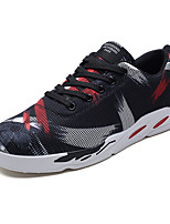 cheap -Men's Mesh / Elastic Fabric Fall Comfort Sneakers Color Block Black / White / Black / Red / Black / Blue