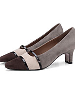 cheap -Women's Shoes Sheepskin Spring Comfort / Basic Pump Heels Kitten Heel Gray