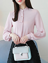 cheap -women's shirt - solid colored stand