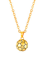 cheap -Men's Long Pendant Necklace - Stainless Steel Ball Fashion Gold, Black, Silver 55 cm Necklace 1pc For Gift, Daily