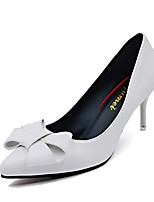 cheap -Women's Shoes PU(Polyurethane) Fall Comfort / Basic Pump Heels Stiletto Heel White / Black / Red
