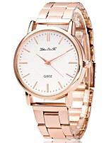 cheap -Women's Wrist Watch Chinese Chronograph / Lovely / Large Dial Stainless Steel Band Bangle / Minimalist Rose Gold