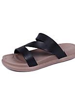 Недорогие -Жен. Обувь Резина Лето Удобная обувь Тапочки и Шлепанцы На плоской подошве Белый / Черный / Розовый