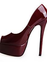 economico -Per donna Scarpe PU (Poliuretano) Autunno inverno Decolleté Tacchi A stiletto Punta aperta Fucsia / Rosso / Borgogna / Matrimonio