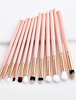 cheap -11pcs Makeup Brushes Professional Makeup Brush Set / Blush Brush / Eyeshadow Brush Nylon fiber Soft / Full Coverage Wooden / Bamboo