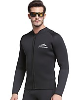 cheap -Men's Wetsuit Top 3mm Diving Suit Thermal / Warm, Anatomic Design Long Sleeve - Diving / Snorkeling / Diving / Boating Spring, Fall, Winter, Summer