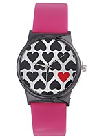 cheap -Xu™ Women's Dress Watch / Wrist Watch Chinese Creative / Casual Watch / Large Dial PU Band Heart shape / Fashion Black / White / Silver / One Year