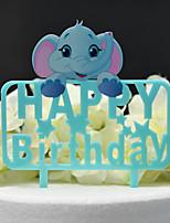 Недорогие -Украшения для торта Классика / Свадьба Аппликация Acryic / полиэстер День рождения с Акрил 1 pcs Пластмассовая коробка