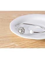 abordables -Femme Incompatibilité Bracelets Rigides - Imitation de perle Fleur Branché, Le style mignon Bracelet Or / Argent Pour Soirée / Rendez-vous