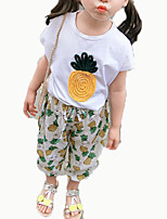 cheap -Baby Girls' Print Short Sleeve Clothing Set