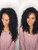 cheap -Remy Human Hair Lace Front Wig Brazilian Hair Curly Wig 180% With Baby Hair / Women / Best Quality Black Women's Long Human Hair Lace Wig