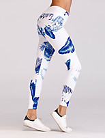 cheap -Women's Going out Sporty Legging - Floral High Waist