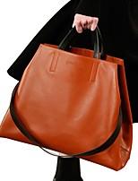 cheap -Women's Bags PU(Polyurethane) Tote Zipper Green / Orange / Brown