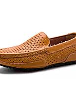 abordables -Homme Chaussures Cuir Nappa Eté Moccasin Mocassins et Chaussons+D6148 Bleu / Brun claire / Kaki