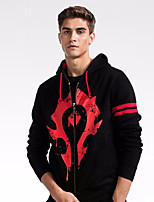 cheap -Men's Basic Hoodie - Color Block / Tribal, Print