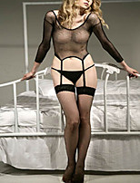 cheap -Women's Gartered Lingerie / Garters & Suspenders Nightwear - Mesh, Solid Colored