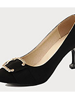 cheap -Women's Shoes PU(Polyurethane) Spring / Fall Comfort / Basic Pump Heels Stiletto Heel Black / Yellow / Pink