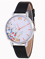 cheap -Women's Wrist Watch Chinese Casual Watch / Lovely PU Band Fashion / Colorful Black / White / Blue