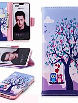 billige -Etui Til Huawei Honor 10 / Honor 7A Pung / Kortholder / Med stativ Fuldt etui Ugle Hårdt PU Læder for Honor 7X / Honor 7C(Enjoy 8) / Honor 6X