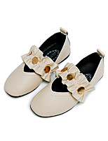 cheap -Girls' Shoes PU(Polyurethane) Spring & Summer Comfort / Flower Girl Shoes Flats Walking Shoes for Teenager Black / Beige / Pink