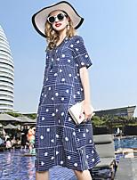 cheap -YENMEINAR Women's Basic / Elegant Sheath Dress - Polka Dot / Striped