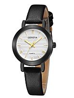 cheap -Geneva Women's Wrist Watch Chinese New Design / Casual Watch / Cool Leather Band Casual / Fashion Black / Brown
