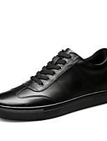 cheap -Men's Comfort Shoes Nappa Leather Spring Sneakers White / Black