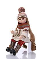 Недорогие -NPKCOLLECTION Кукла с шаром / Блайт Кукла Девушка из провинции 18 дюймовый Полный силикон для тела / Винил - Искусственная имплантация Коричневые глаза Детские Девочки Подарок