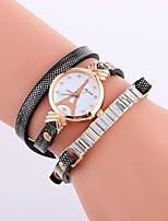 baratos -Mulheres Bracele Relógio Chinês imitação de diamante PU Banda Casual / Fashion Preta / Branco / Azul / Um ano / SSUO CR2025