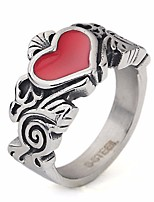 cheap -Men's Vintage Style / Classic Ring - Titanium Steel Heart Vintage, Gothic 7 / 8 / 9 Silver For Gift / Date