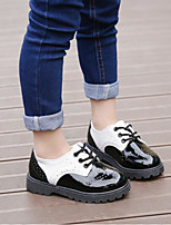 cheap -Girls' Shoes PU(Polyurethane) Fall & Winter Comfort Oxfords Lace-up for White / Black