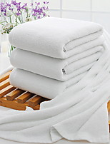 cheap -Superior Quality Bath Towel, Solid Colored Poly / Cotton 3 pcs