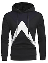 cheap -Men's Basic Hoodie - Color Block