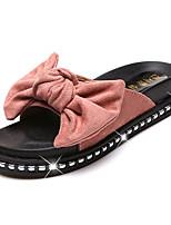 cheap -Women's Shoes Suede / PU(Polyurethane) Summer Slingback Slippers & Flip-Flops Flat Heel Bowknot Black / Yellow / Pink